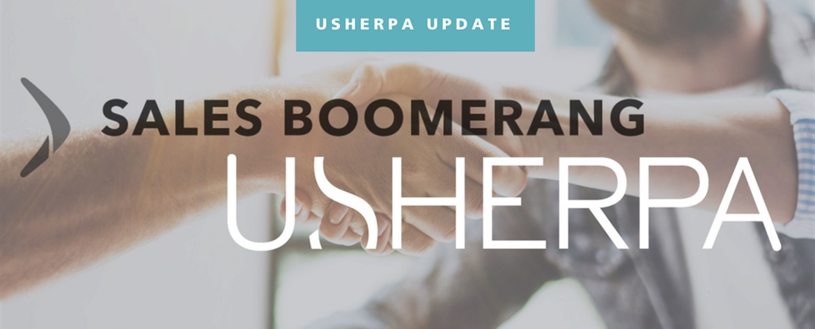 Usherpa Partners with Sales Boomerang image